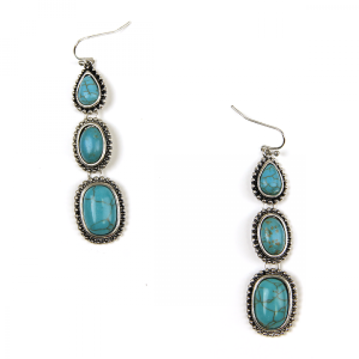 Treasure Western Navajo Earrings