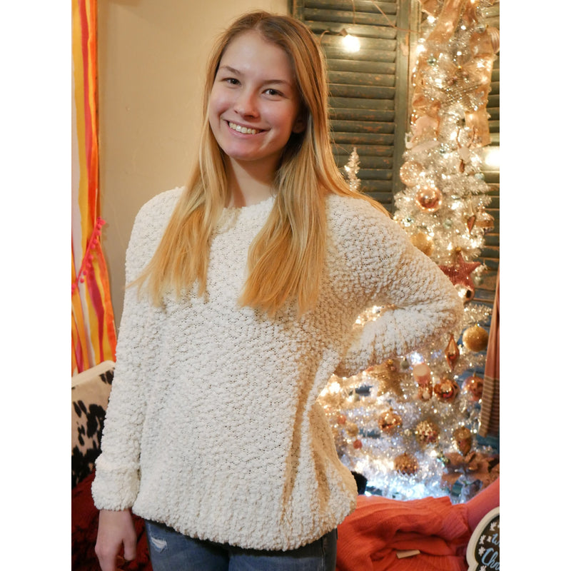 Popcorn Nights Sweater - Shabby 2 Chic Boutiques