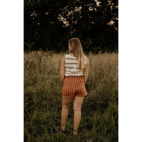 Don't Get Sidetracked Rust Shorts - Shabby 2 Chic Boutiques