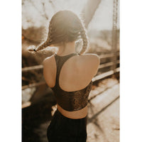 Snake Foil Criss-Cross Back Sports Bra - Shabby 2 Chic Boutiques