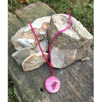 Stone on Leather Necklace - Shabby 2 Chic Boutiques