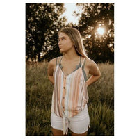 Sunny Daze Striped Tie Top - Shabby 2 Chic Boutiques