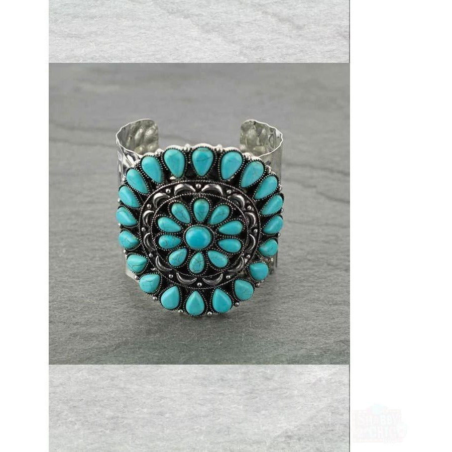 Turquoise Cuff Bracelet - Shabby 2 Chic Boutiques