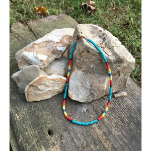 Turquoise Tribal Choker - Shabby 2 Chic Boutiques
