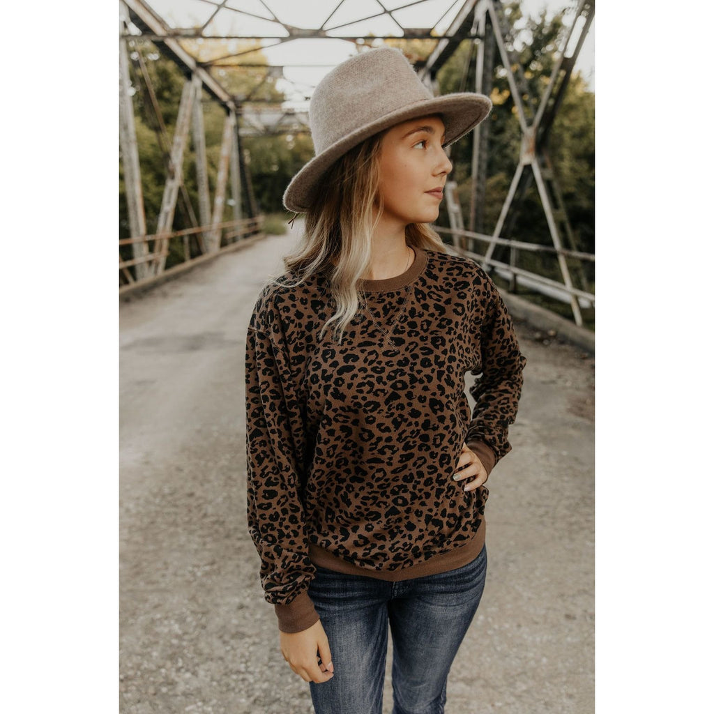 Z Supply Leopard Pullover - Shabby 2 Chic Boutiques