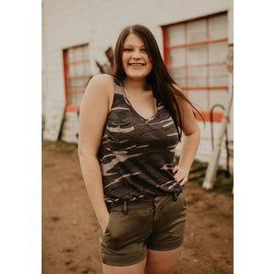 The Camo Pocket Racer Tank - Shabby 2 Chic Boutiques