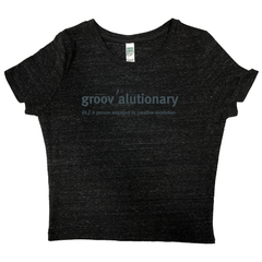Groovalutionary Women's Eco Triblend Crop Top