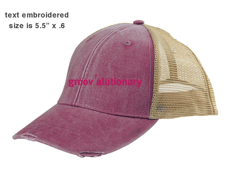 Groovalutionary Distressed Hat