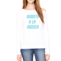 Reversed Rindete a la Musica Sponge Fleece Sweatshirt