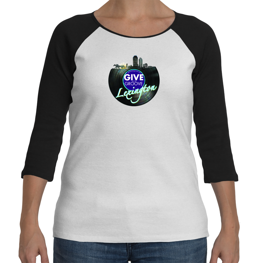 Women's Give Into The Groove Logo Raglan