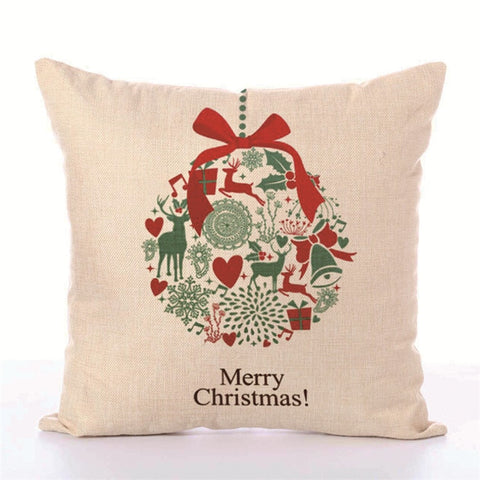 Holiday Deer Pillow Cover