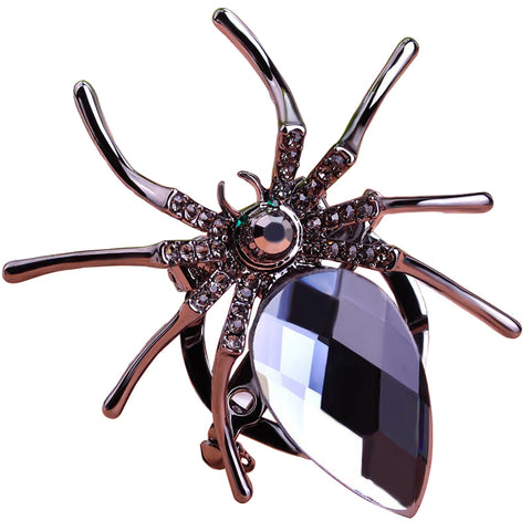 Trendy Black Spider Brooch Pin