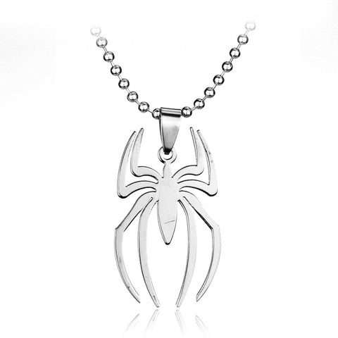 Modern Spider Pendant Necklace