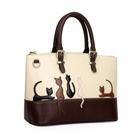 Stylish 5 Cat Cross Body or Hand Bag