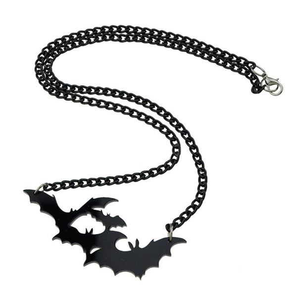 Simple Gothic Bat Chain Necklace