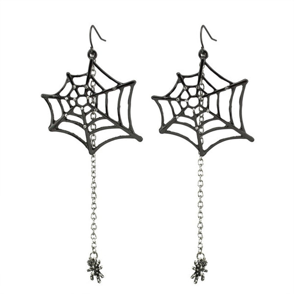 Spiderweb Drop Earrings