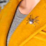 Spider Pearl Body Brooch Pin