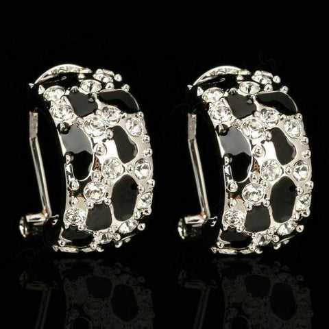 Leopard Print Party Stud Earrings