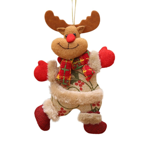 Santa Moose Deer Festive Ornament