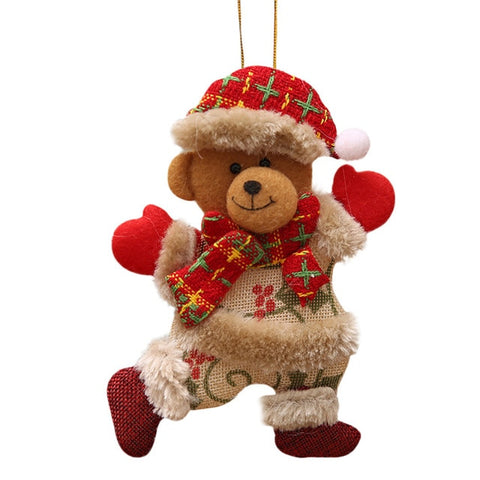 Santa Bear Festive Ornament