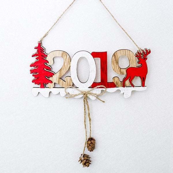 2019 Festive New Year Deer Ornament