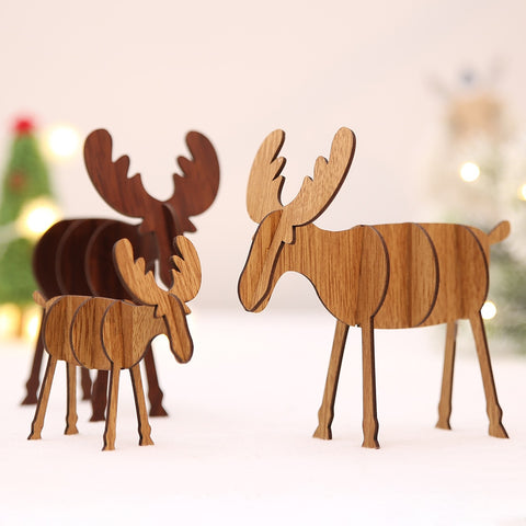 Festive Deer Moose Ornament