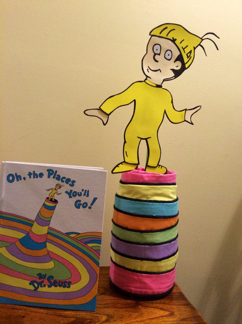 Oh the places you'll go cover inspired character art centerpiece decoration