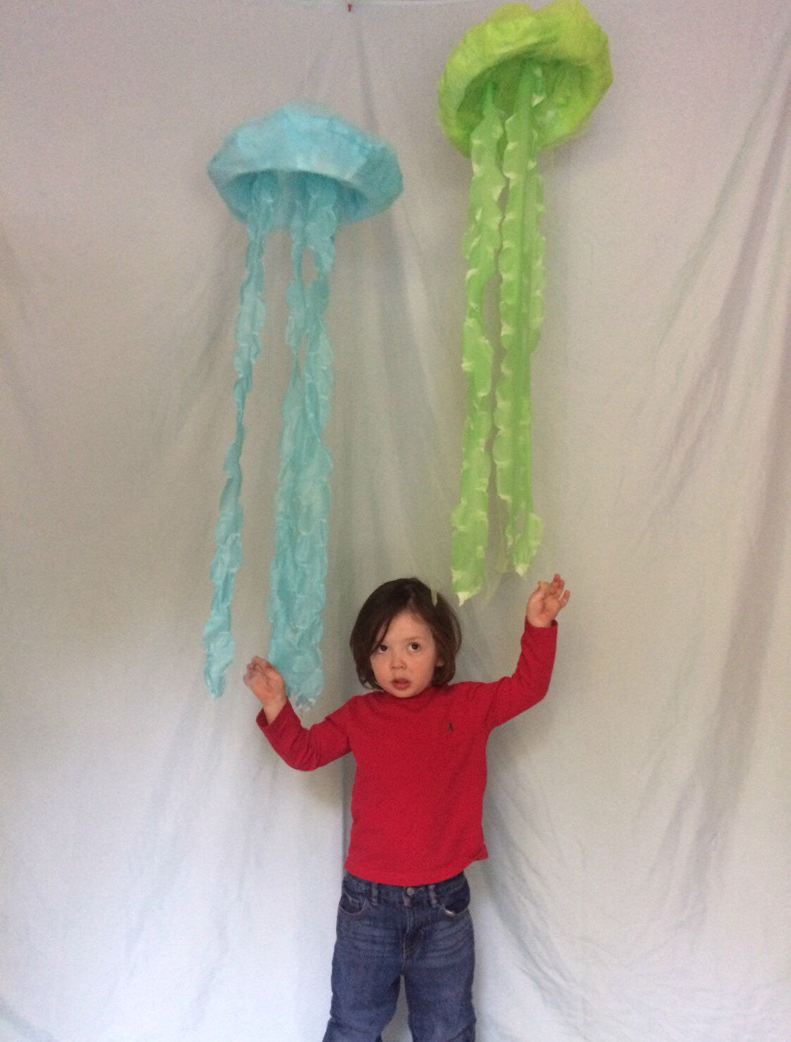 Large hanging jelly fish underwater mermaid decor