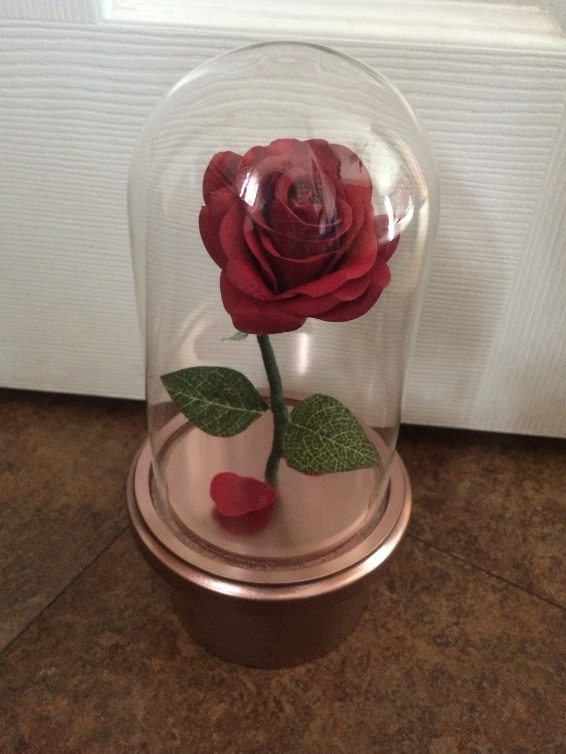 Stunning Beauty and the Beast swivel top ring box proposal prop Valentine's Day gift