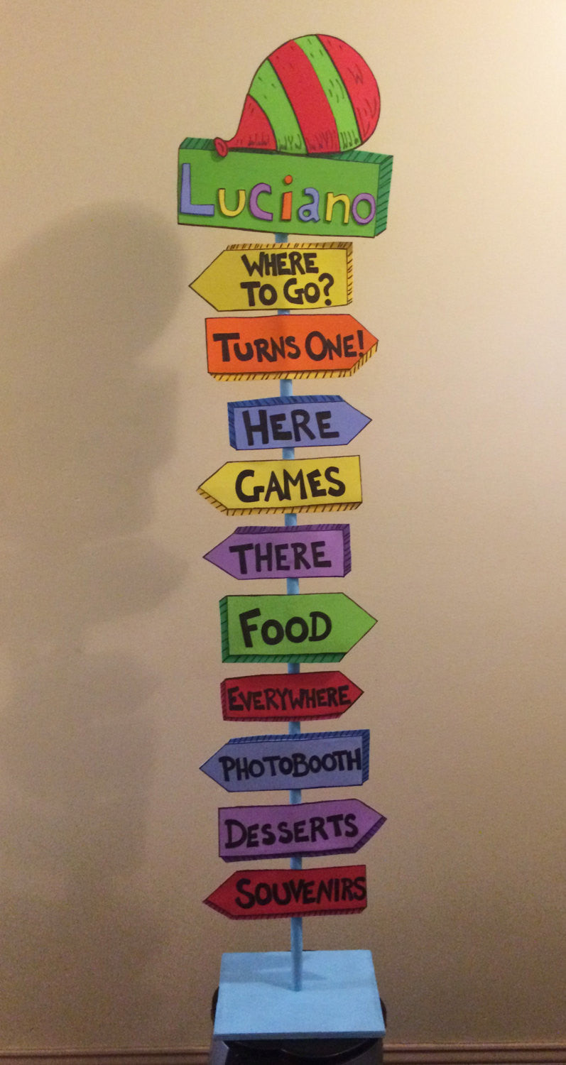 Dr Seuss Oh the Places You'll Go Inspired Custom Lawn Sign Party Decor Class Room Sign Graduation Birthday Baby Shower