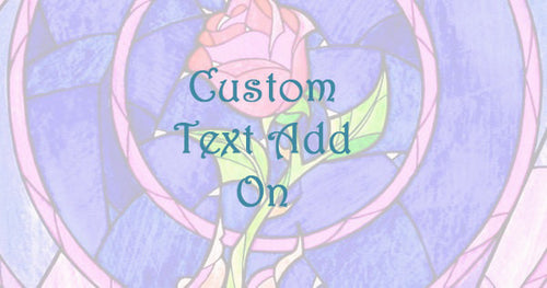 Custom text add on for Enchanted Rose Jars and Ring Boxes