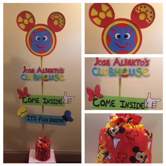 Mickey Mouse clubhouse inspired birthday baby shower sign