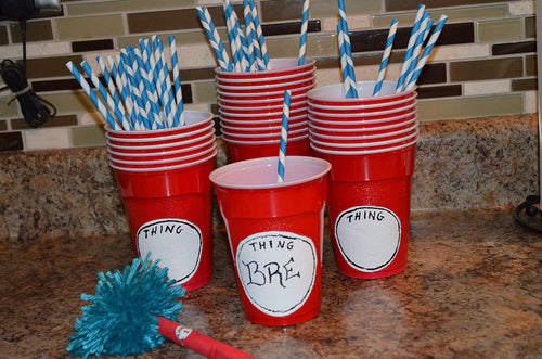 Dr Seuss Cat in the Hat Complete beverage station kit (set includes 25 cups)