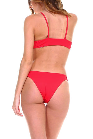 Red Front Knot Bikini
