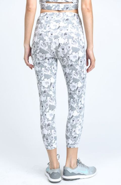 Poppy Print Yoga Legging