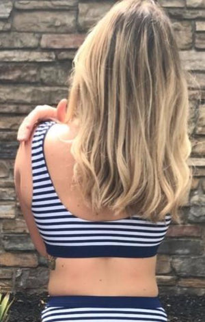 Navy Stripe Sport Top
