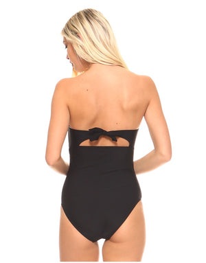 Black Scalloped One Piece