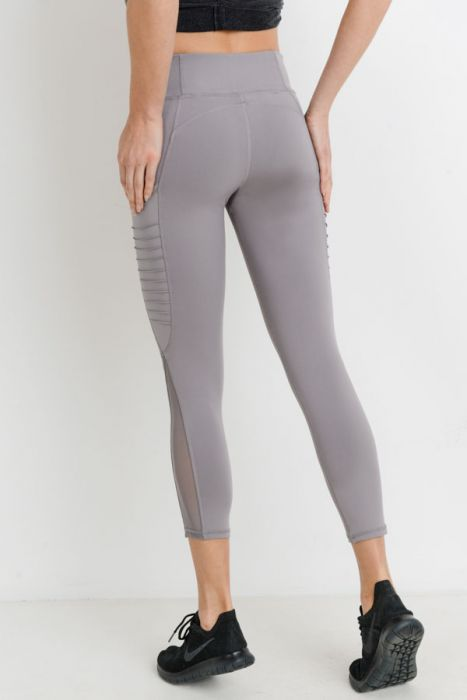 Misty Mauve Ribbed Yoga Legging Leggings
