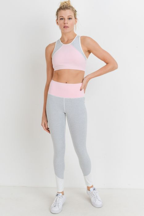 Pastel Colorblock Sports Bra