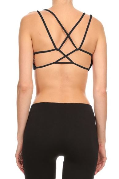Black Loop Strap Sports Bra