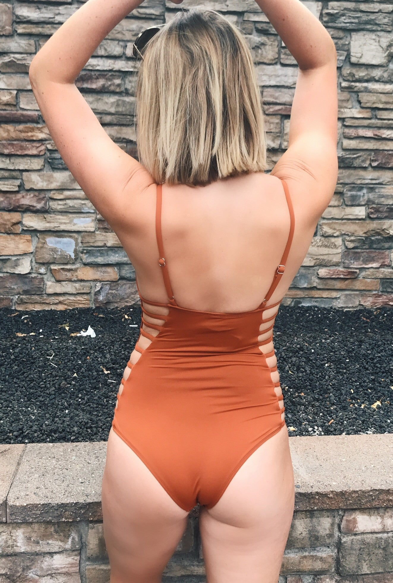 Strappy Pumpkin Spice One Piece