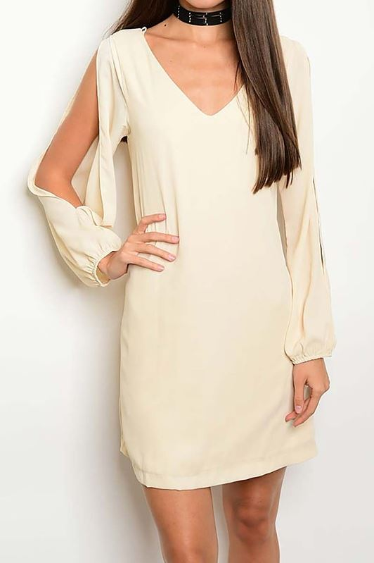 Classic White Open Sleeved Dress