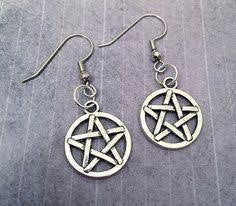 test pentagram earrings