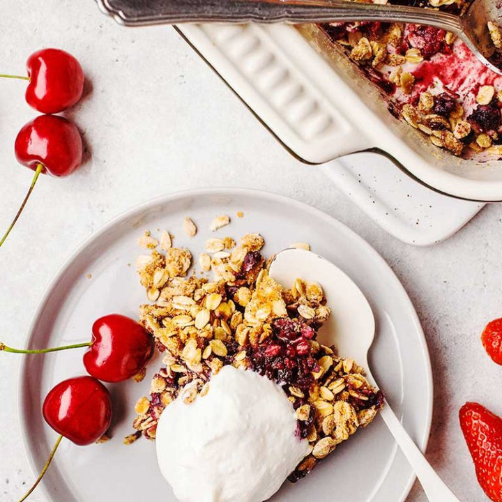 Totally Egg Berry Crisp