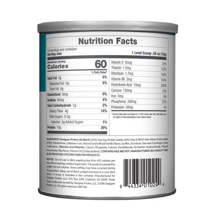 Designer Lite Vanilla Cupcake Nutrition Facts