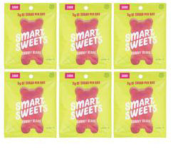 Naturally sweetened SMART SWEETS gummy bears packages