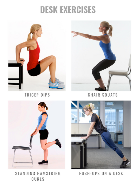 Desk exercises for strength and mobility