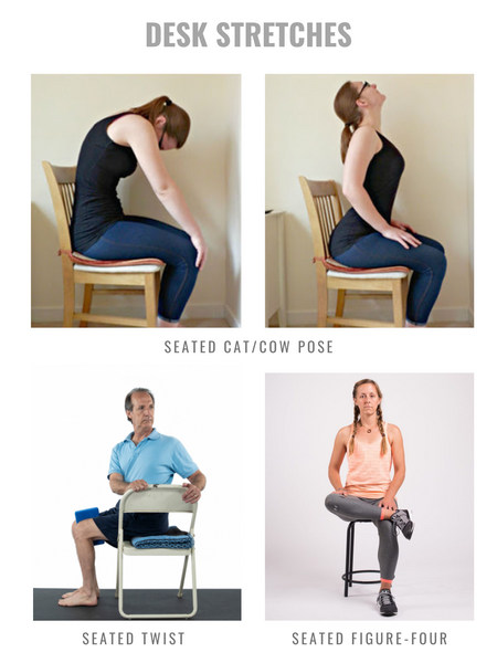 Desk stretches for focus and mobility