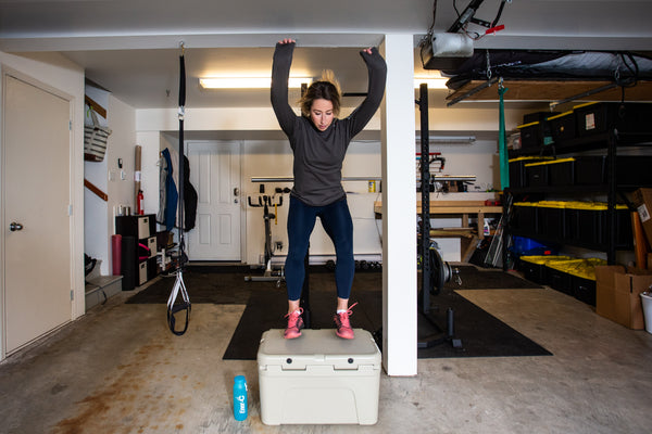 Olympian Anna Segal works out in her garage