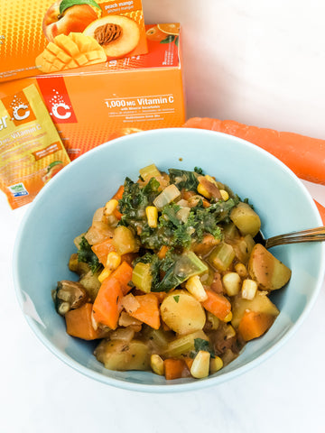 Lindsay Mustard's hearty and healthy vegetable stew